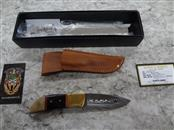 "CFK DAMASCUS STEEL BRAZILIAN WALNUT - WITH SHEATH - 3.5"" BLADE - MUST BE 18"